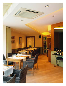KSL supplied and installed new Mitsubishi Electric air conditioning to a restaurant in London, call our Kent offices 01634 290999 to discuss your needs