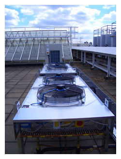 KSL supplied and installed new roof mounted close control air conditioning systems to serve two large data centres in London, call our London office 0203 008 5441 for more information.