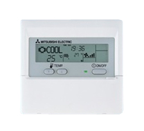 Mitsubishi electric wall mounted air-conditioning controller.