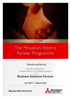 Mitsubishi Electric BSP certificate awarded to KSL air conditioning allowing a 5 year warranty to be offered, please call 01634 290999 for more details.